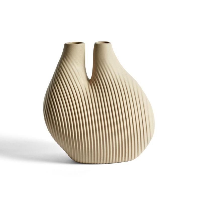 WS Chamber Vase, Light Beige