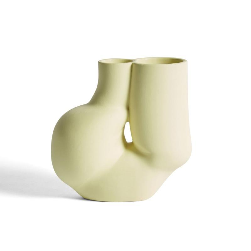 WS Chamber Vase, Soft Yellow