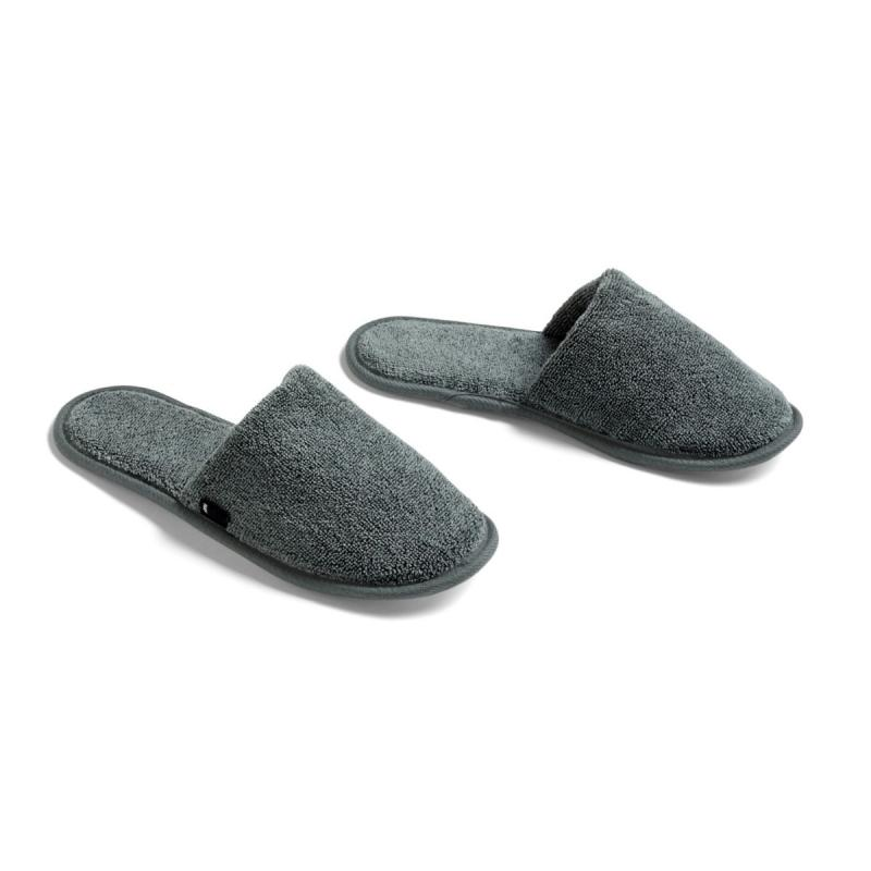 Frotté Slippers, Dark Green