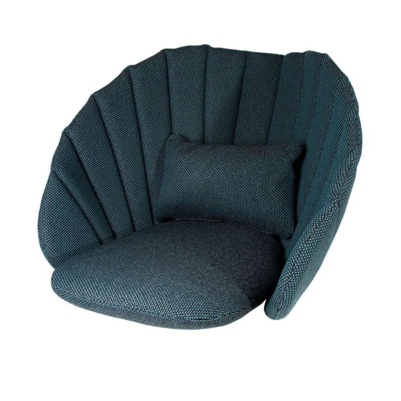 Peacock Lounge Chair Cushion Set, Focus