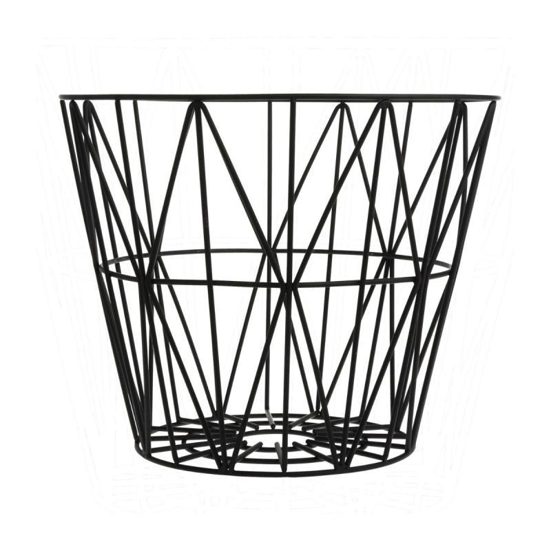 Wire Basket, L, Black