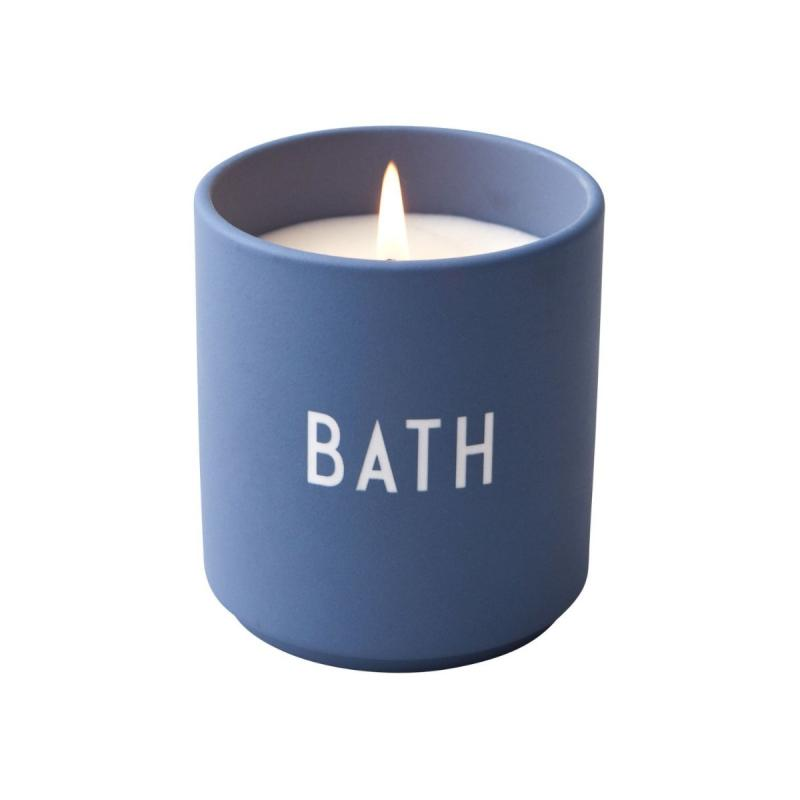 Scented Candle, Large, Bath, Blue