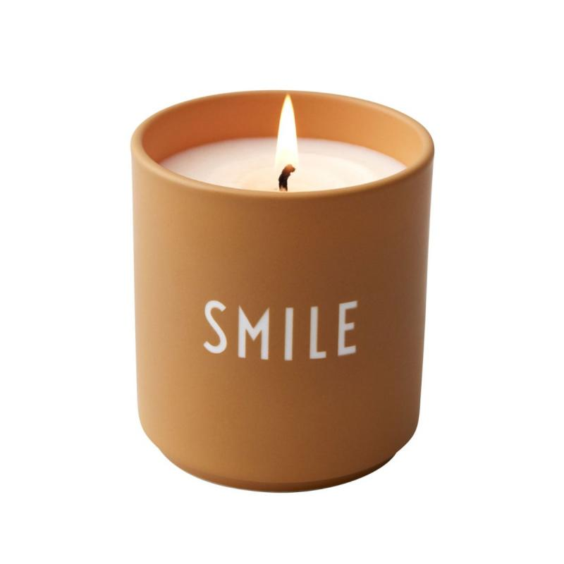 Scented Candle, Large, Smile, Mustard