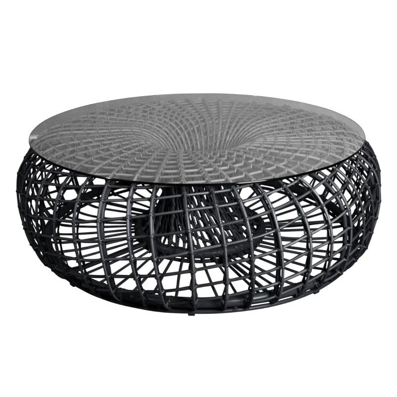 Nest Footstool / Coffee Table Glass Top