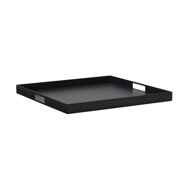 Club Tray, 58.5x58.5cm, Black