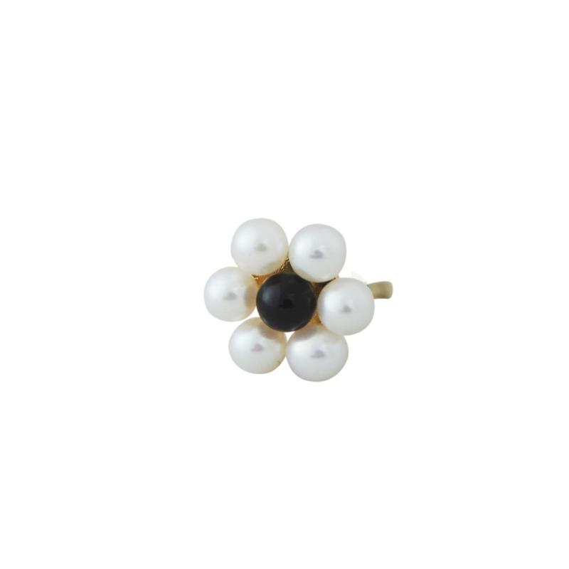 My Flower Earring Stud, Gold, Freshwater Pearls