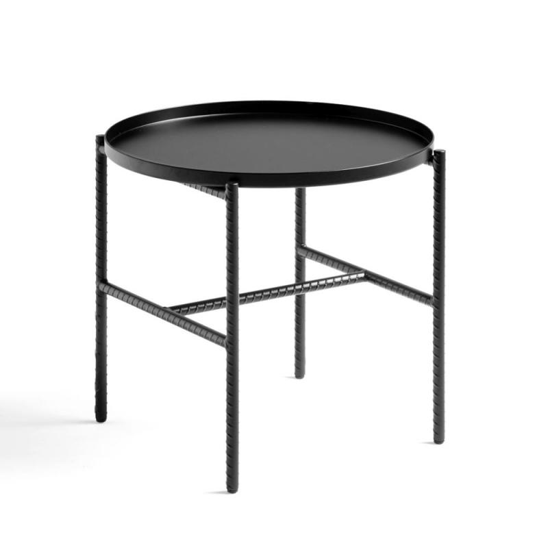 Rebar Side Table, Ø45cm, Black