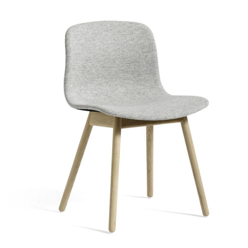 AAC 13 Chair, Grey Upholstery / Oak Base