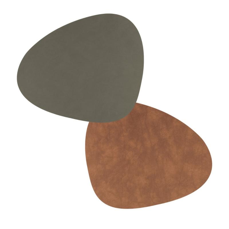Curve Double Table Mat, L, Nupo Leather