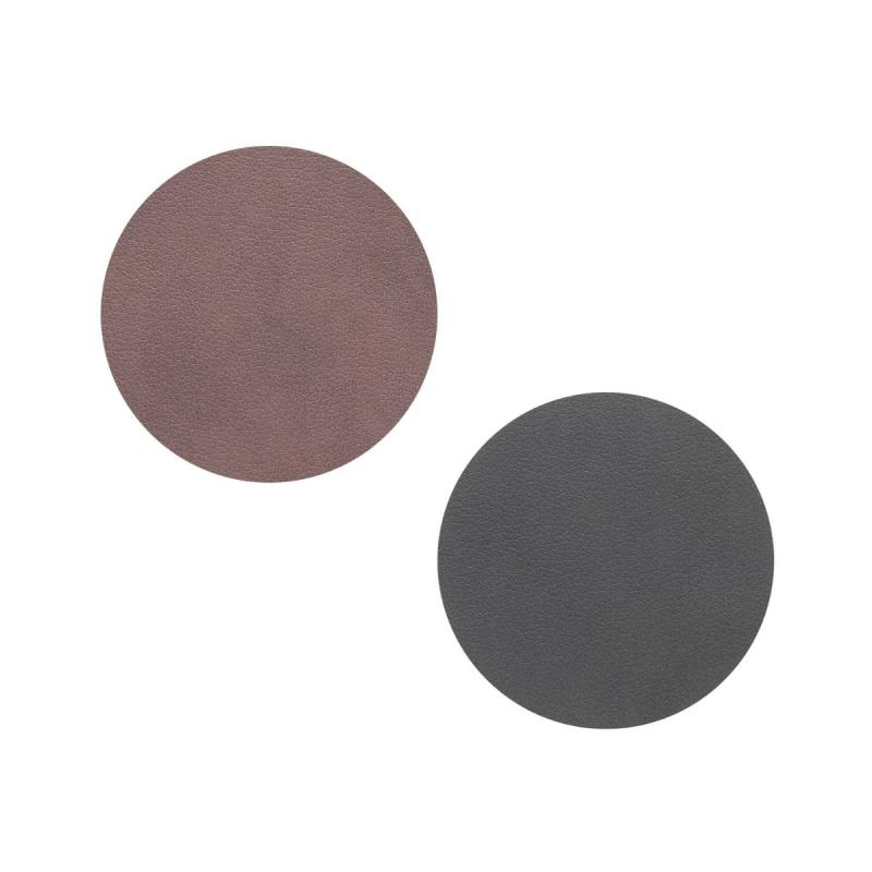 Circle Double Glass Mat, Nupo Leather