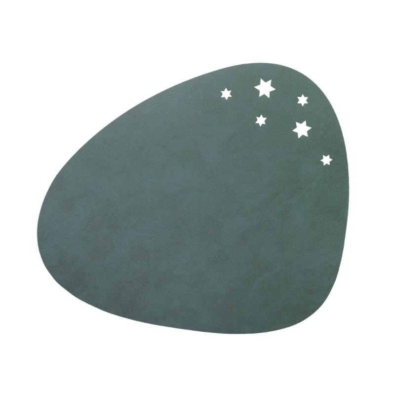 Curve Star Table Mat, L, Nupo Leather