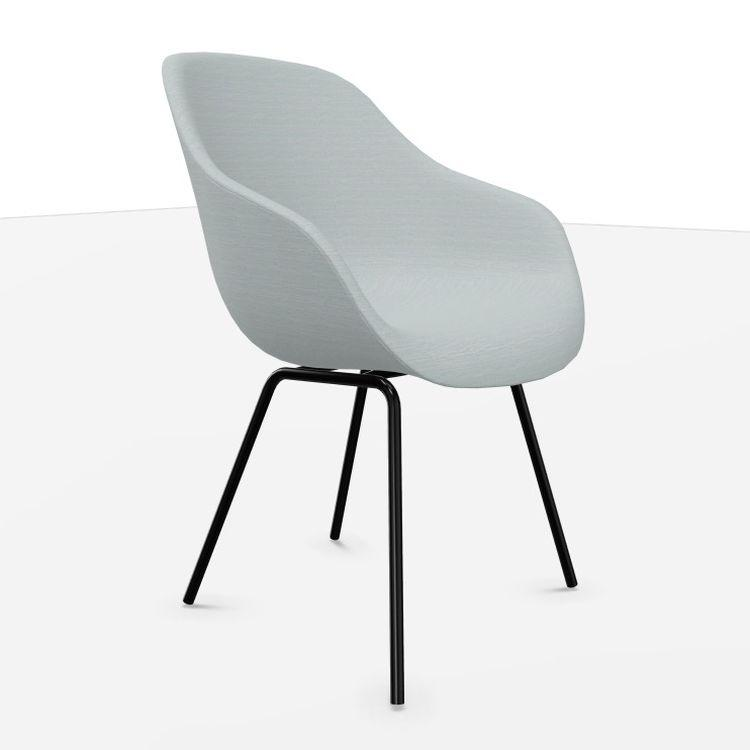 AAC 127 Chair, Grey Upholstery / Black Base
