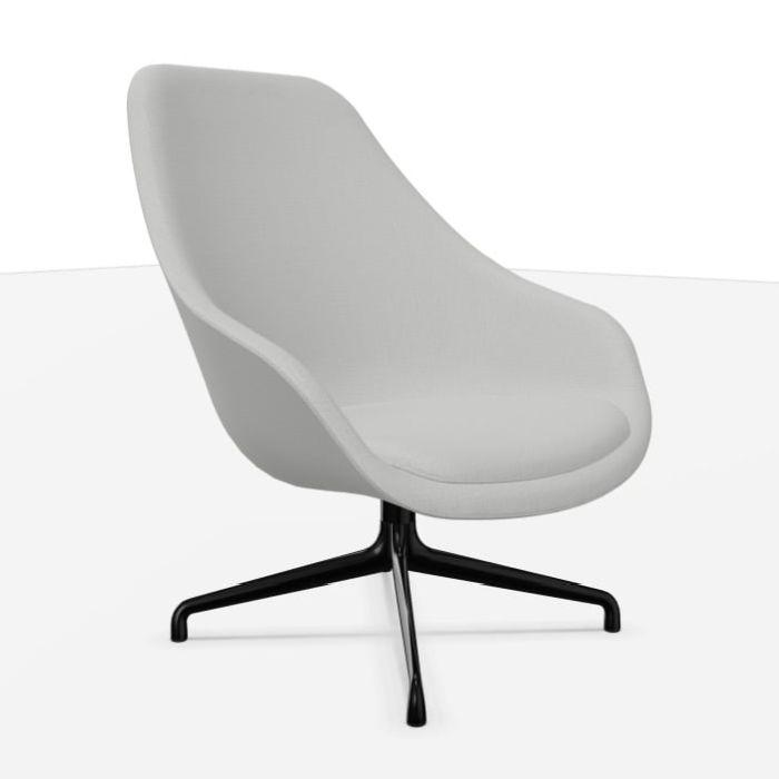AAL 91 Lounge Chair, Grey Upholstery / Black Base
