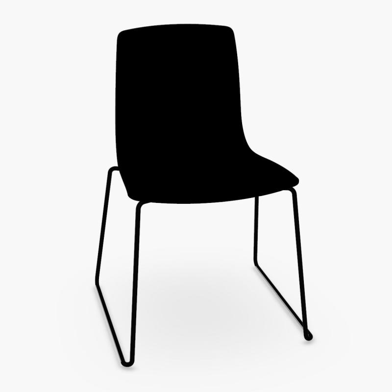 Aava Chair, Black Shell / Black Sled Base
