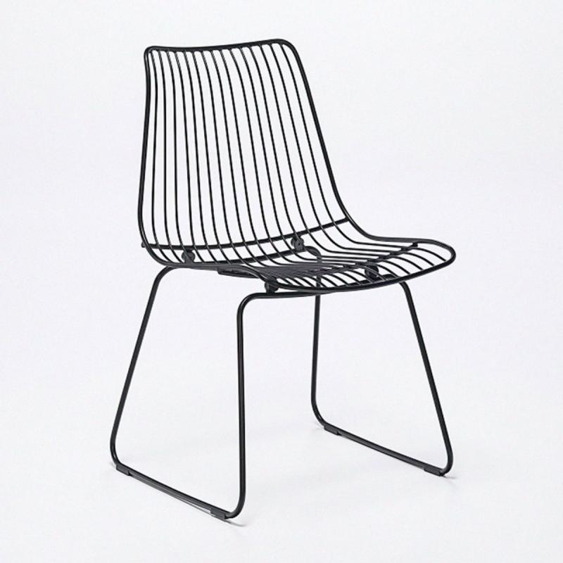 Acco Chair, Black Seat/Black Frame