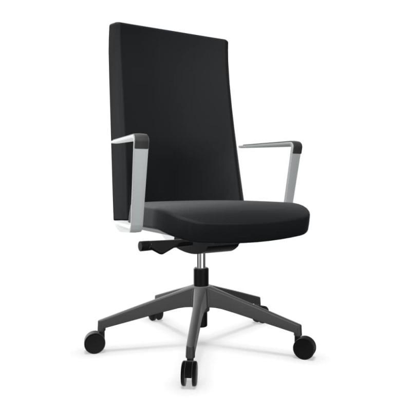 Cron Office Chair, Sport Model, High Back, Black Upholstery / Black Base