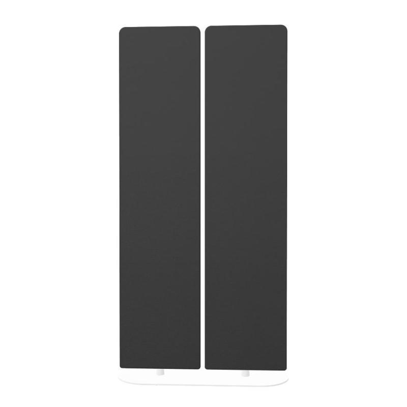 360° Swivel Screen, Black Panels / White Frame