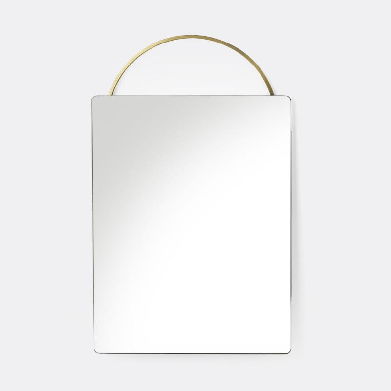 Adorn Face Mirror, Brass