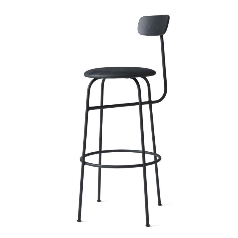 Afteroom Bar Chair, Black Seat / Black Frame
