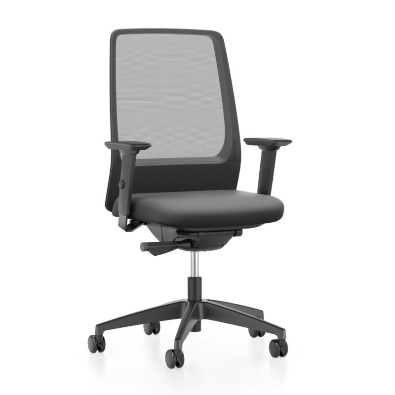 AIMis1 1S03 Office Chair, Mesh Backrest / Black Seat / Black Base