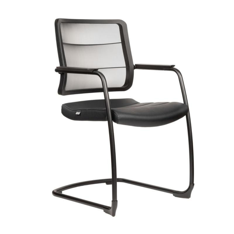 AirPad 5C30 Visitor Chair, Membrane Backrest / Black Seat / Black Frame