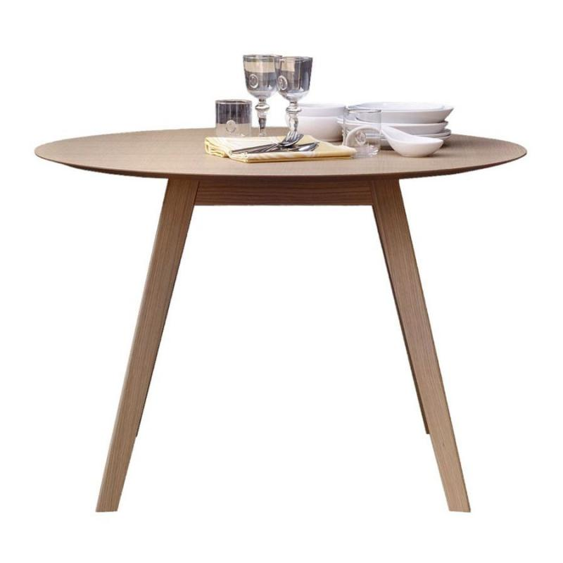 Aise Table, Extendable, Ø110-154cm, Oak
