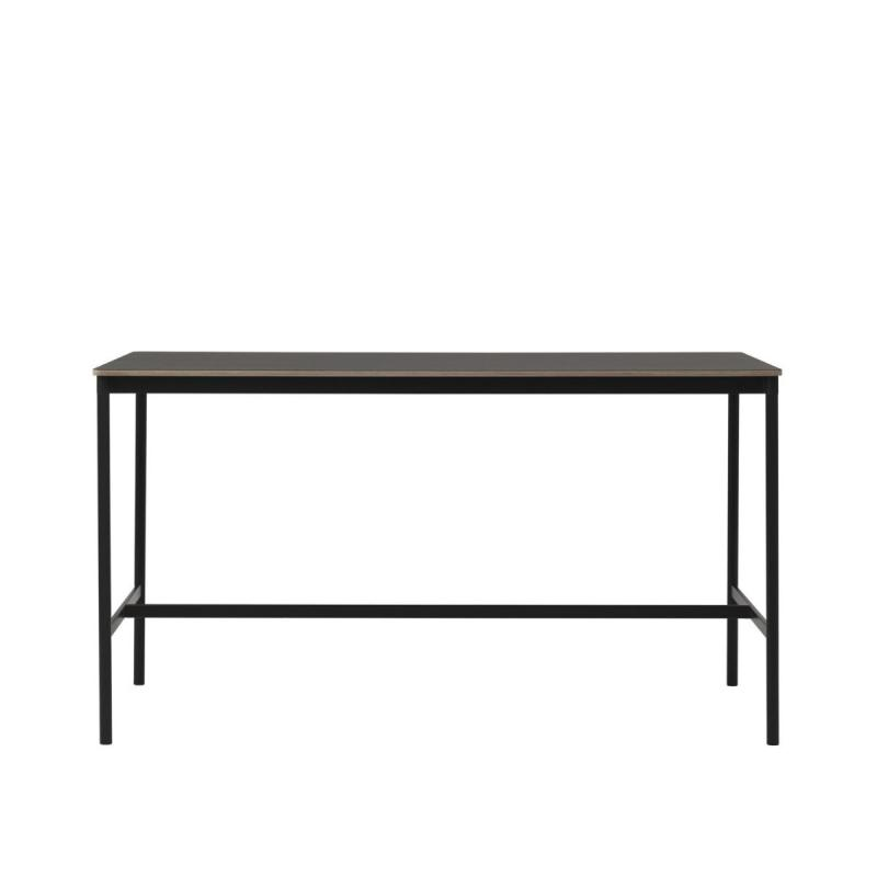 Base High Table, 190x85x105cm, Black Linoleum / Plywood / Black