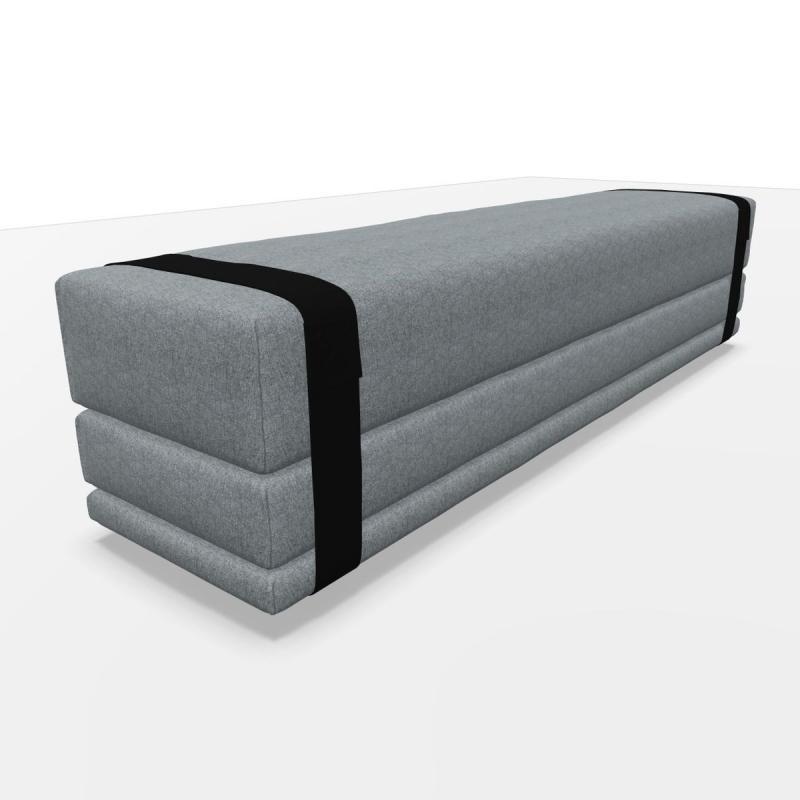 Bavul Bench & Bed, Grey