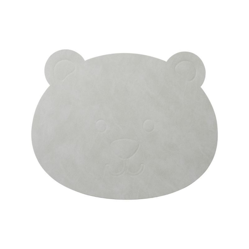 Bear Table Mat, Nupo Leather, Metallic