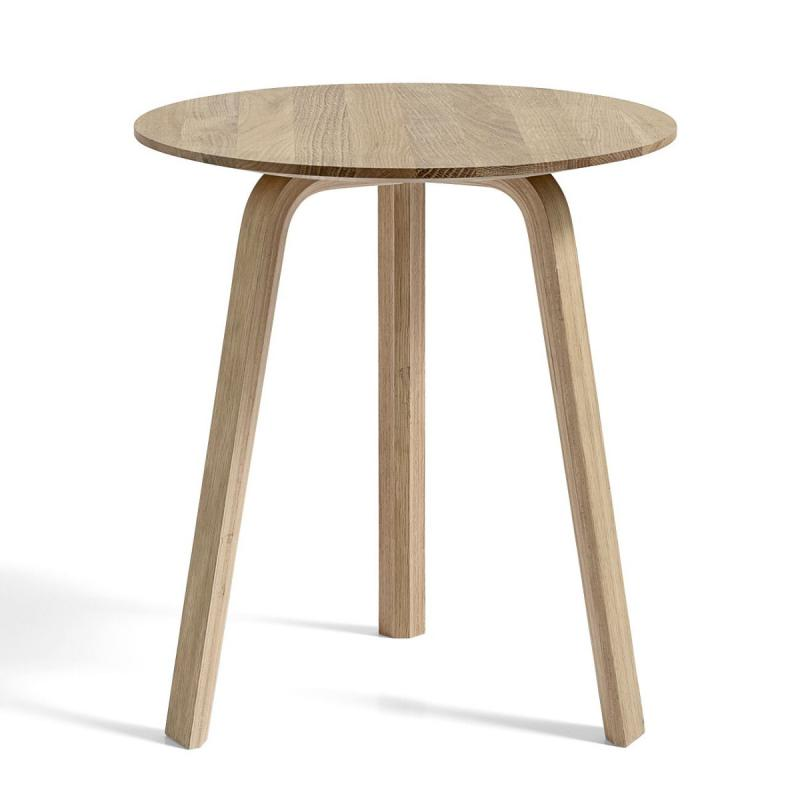 Bella Coffee Table, Ø45x39cm, Matt Lacquered Oak