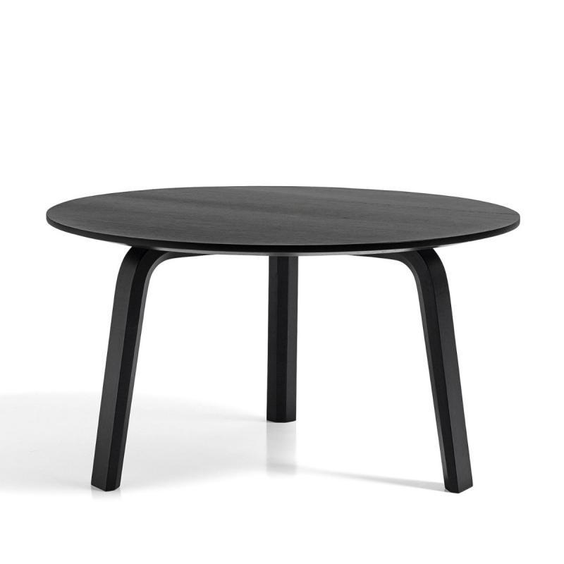 Bella Coffee Table, Ø60x32cm, Black Stained Oak