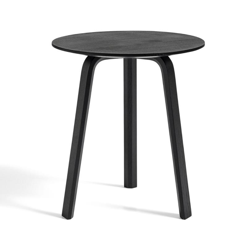 Bella Coffee Table, Ø45x49cm, Black Stained Oak