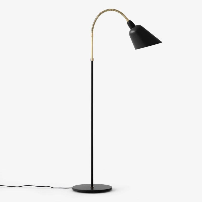 Bellevue Floor Lamp AJ7, Black & Brass