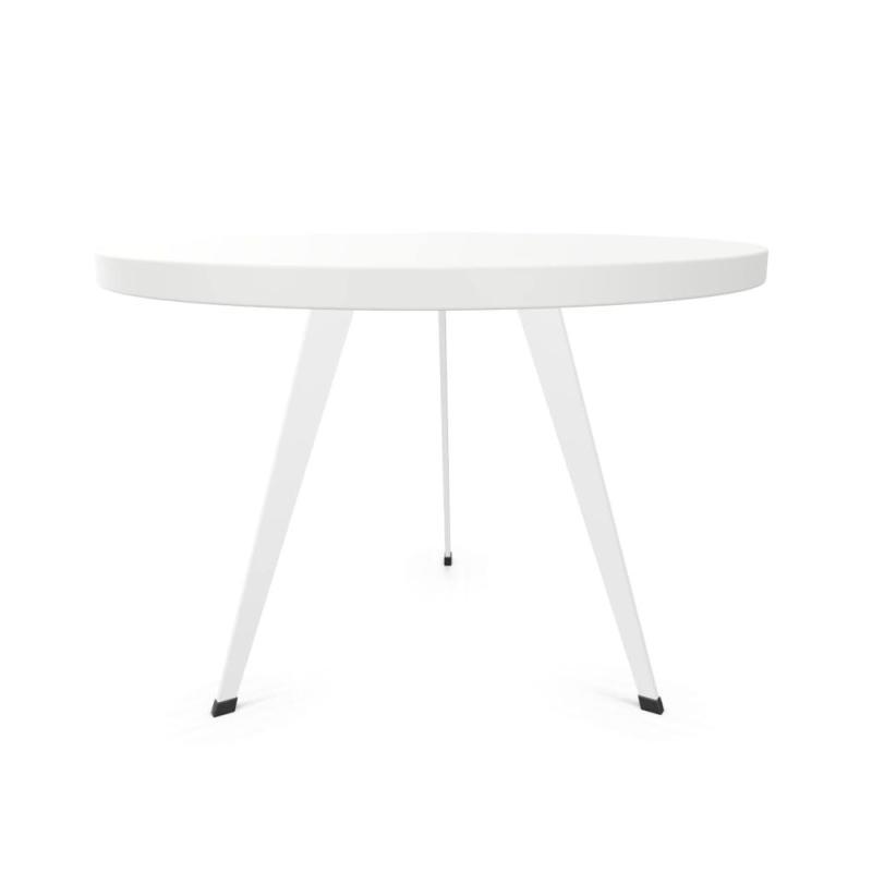 Bend Coffee Table, White Laminate Top / White Base