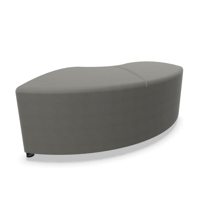 Bend Soft Seating, Curved Non-Symmetric Left Module, Grey