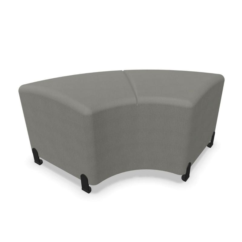 Bend Soft Seating, Curved Symmetric 45cm Side Module, Grey