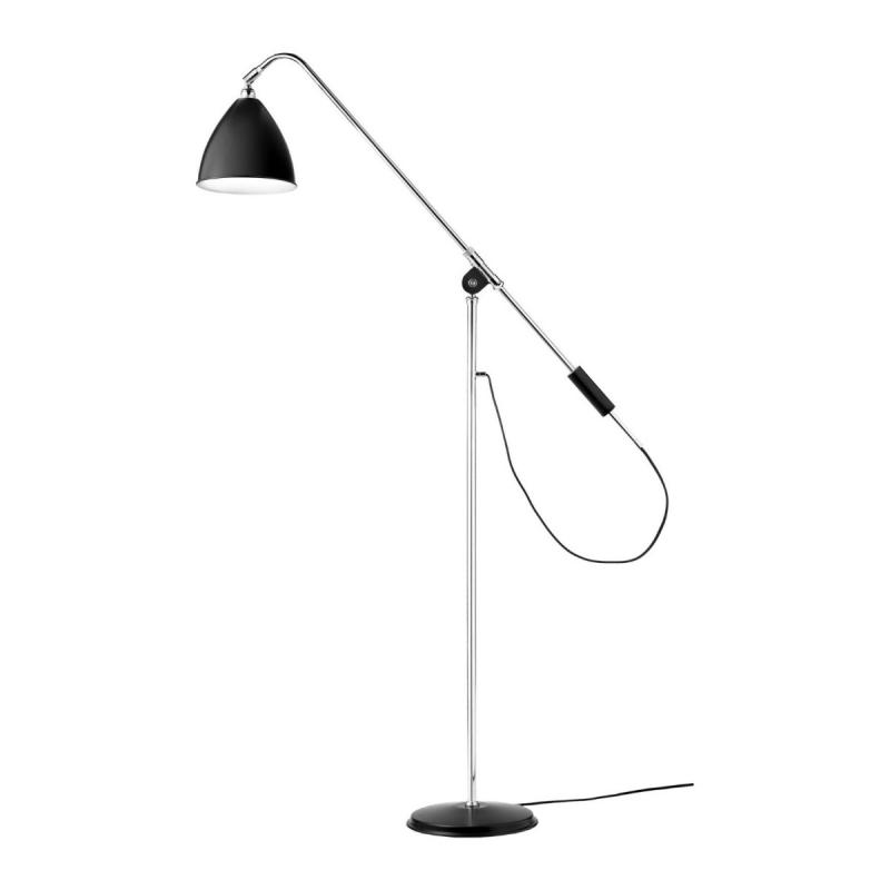 Bestlite BL4 Floor Lamp, Black Shade / Chrome Base