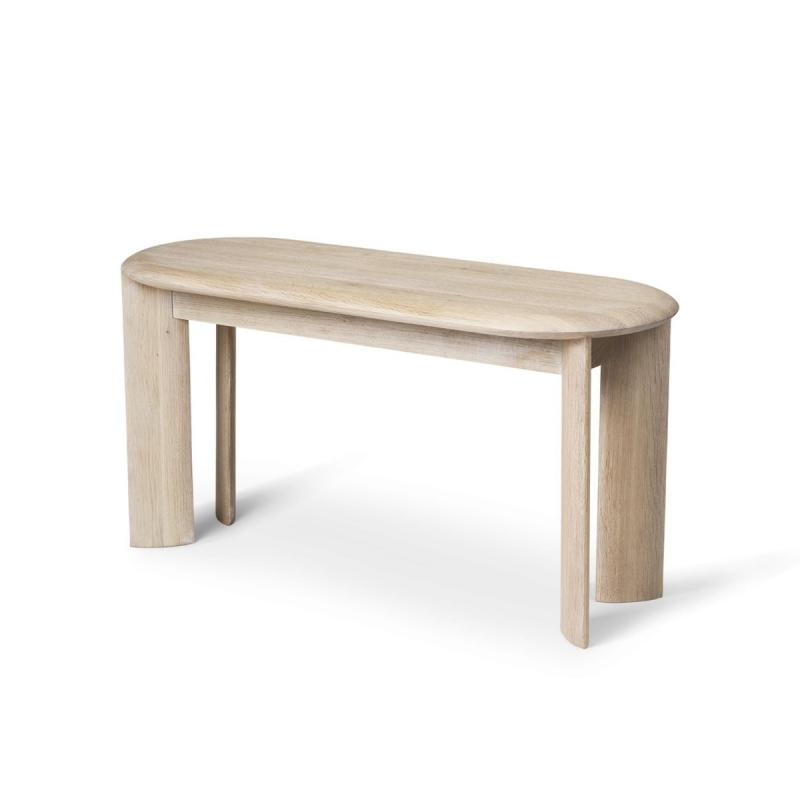 Bevel Bench, White Oiled Oak