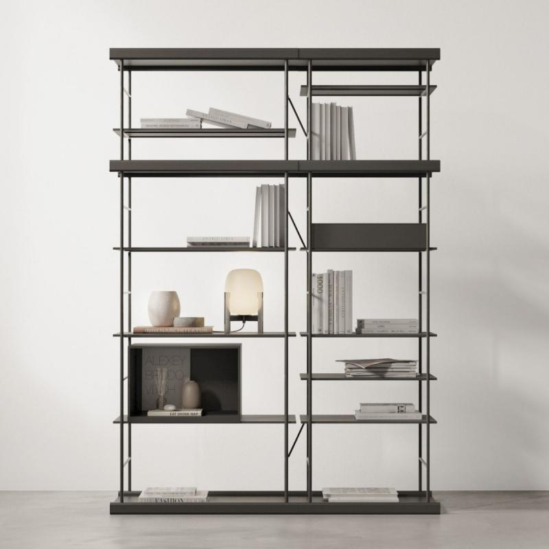 Bost Shelving Unit, 140x195cm, Black