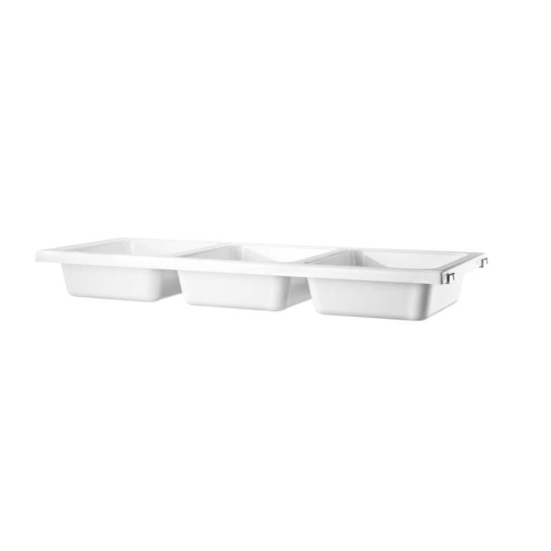 String Bowl Shelf, Plastic, 78x30cm, White