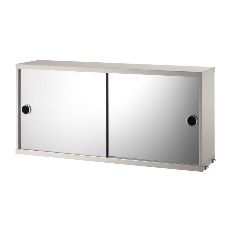 String Cabinet With Mirror Doors, 78x20x37cm