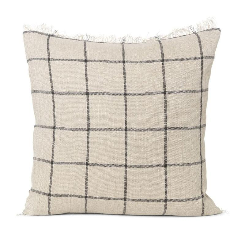 Calm Cushion, 50x50cm, Camel/Black