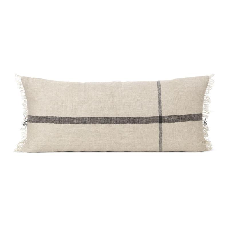 Calm Cushion, 90x40cm, Camel/Black