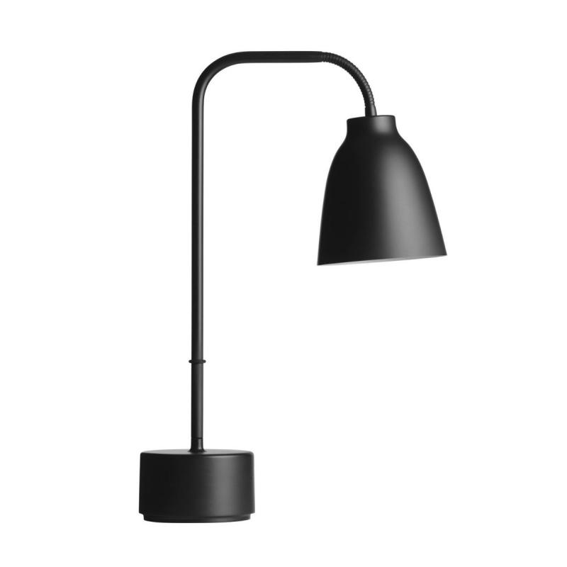 Caravaggio Read Table Lamp, Black