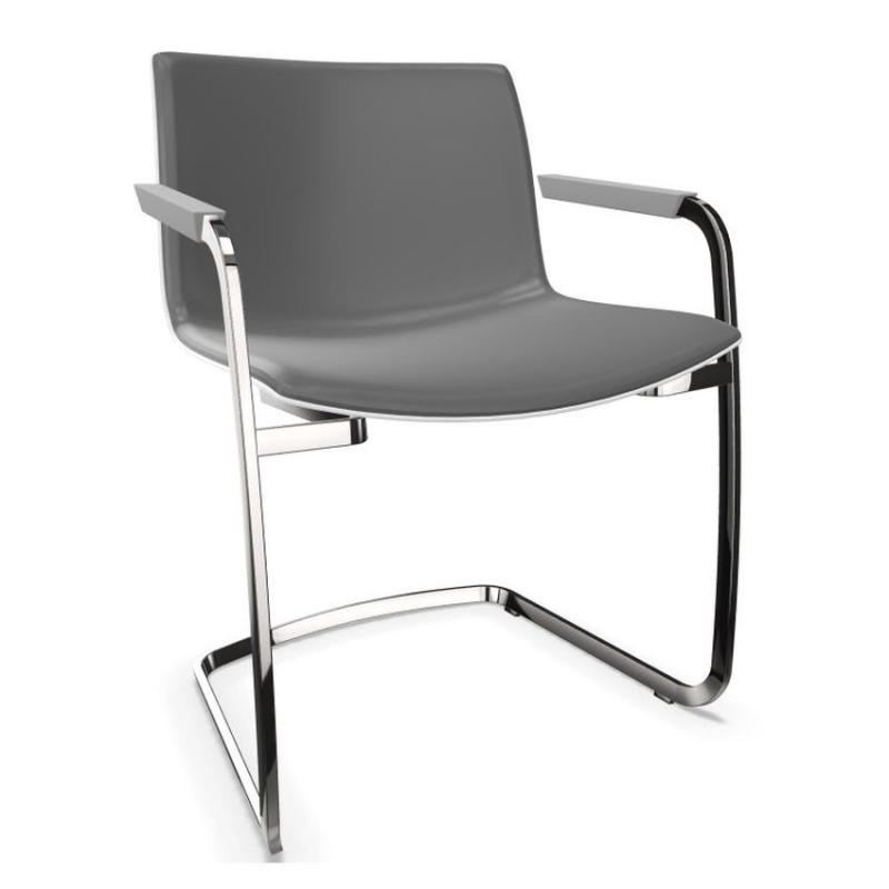 Catifa 53 Chair, Grey Shell / Chromed Cantilever Base