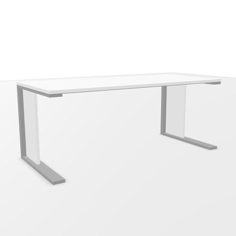 CE Desk, 180x80cm, White Laminate Top / Anthracite Base