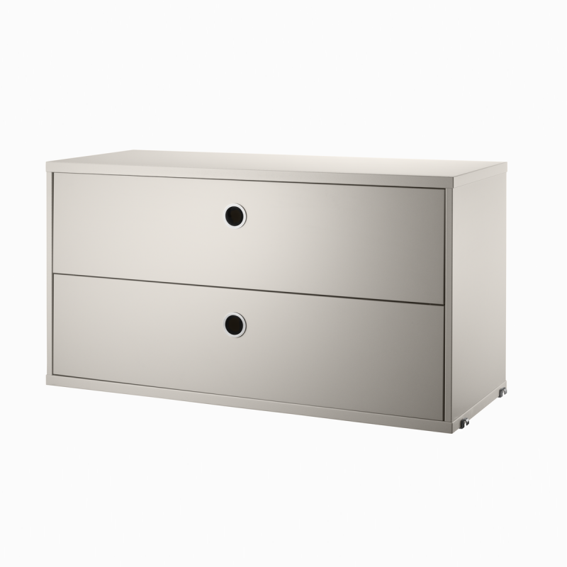 String Chest With 2 Drawers, 78x30x42cm
