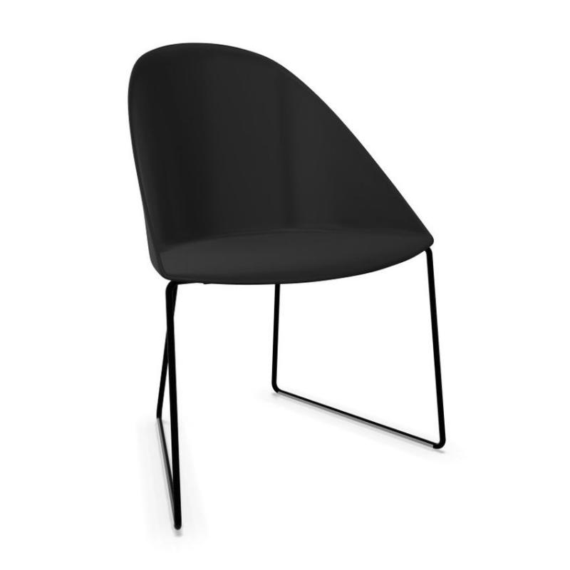Cila Chair, Black Shell / Black Sled Base