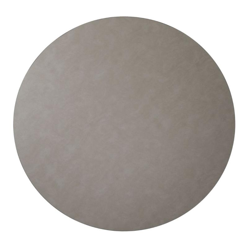 Circle Floor Mat, XXXXL, Cloud Leather, Light Grey