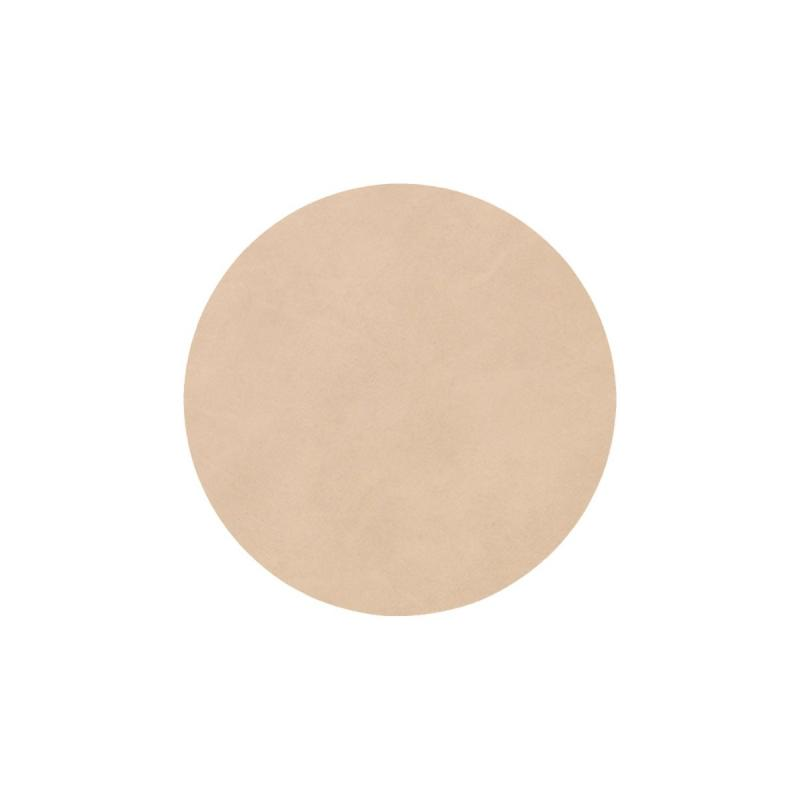Circle Glass Mat, Nupo Leather, Sand